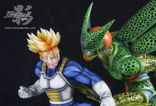Shadow Studio Dragon Ball Z Cell First Form Vs Future Trunks Anime Collect